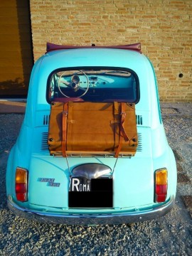 1969 Fiat 500 F Model L Luxury Blue Light for sale