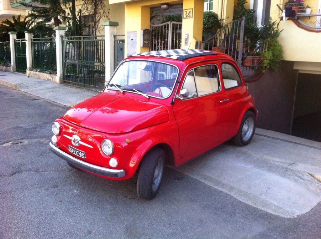 1970 Fiat 500 110f L Luxury Red For Sale