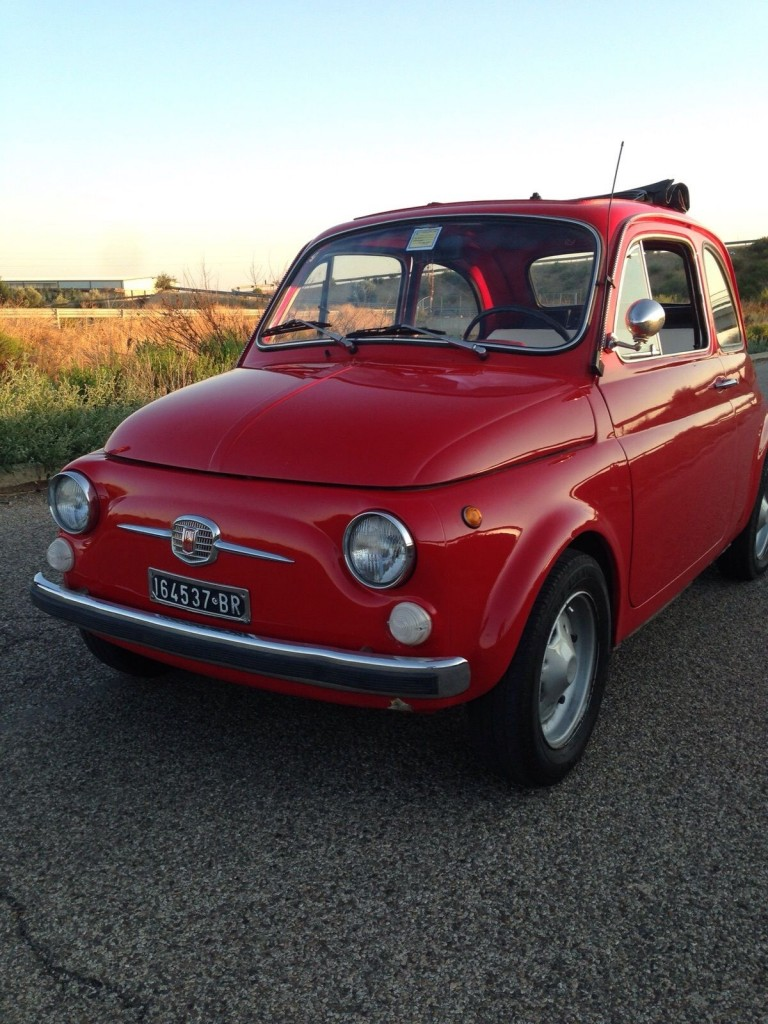 1970 fiat 500 110f l luxury red for sale. Black Bedroom Furniture Sets. Home Design Ideas