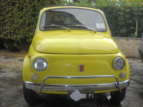 1971 Fiat 500 Model L Luxury Yellow for sale