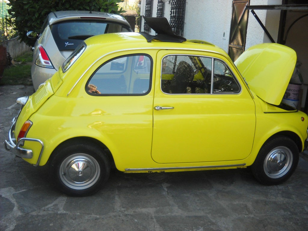 1971 fiat 500 model l luxury yellow for sale. Black Bedroom Furniture Sets. Home Design Ideas