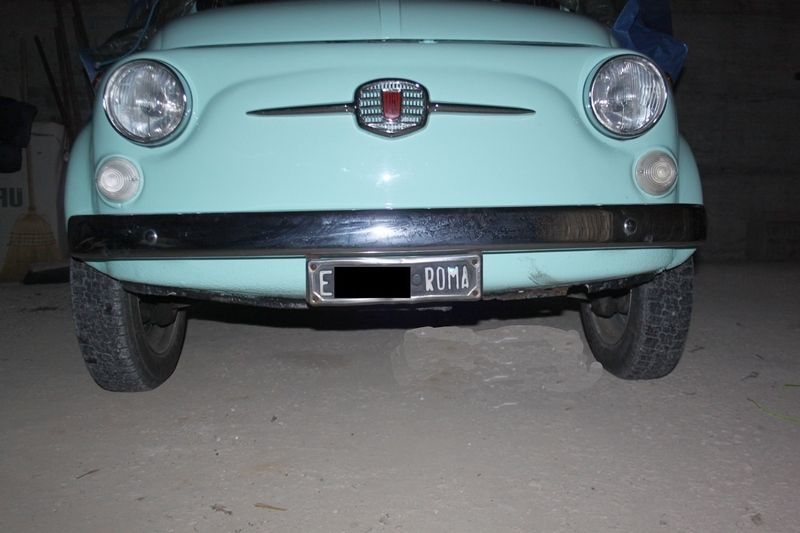 1969 Fiat 500 F Model L Luxury Blue Light