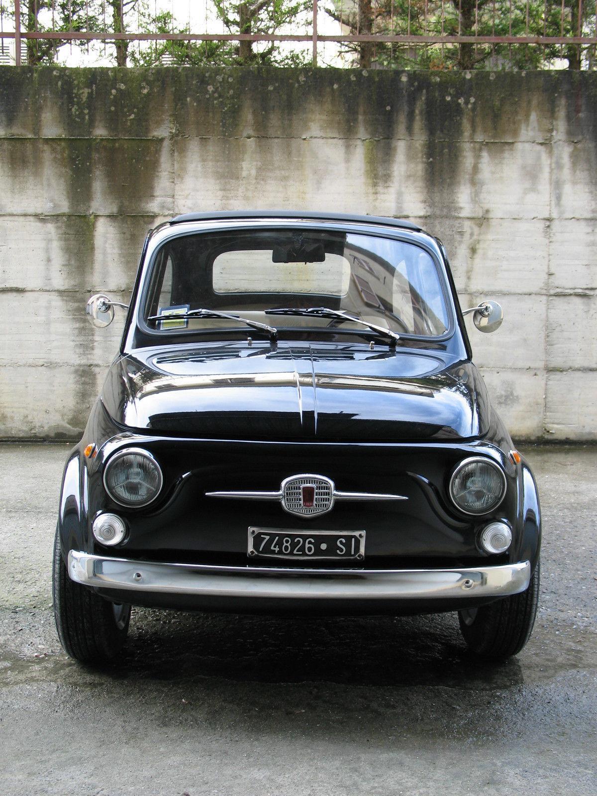 1967 fiat 500 110f model l luxury black for sale. Black Bedroom Furniture Sets. Home Design Ideas
