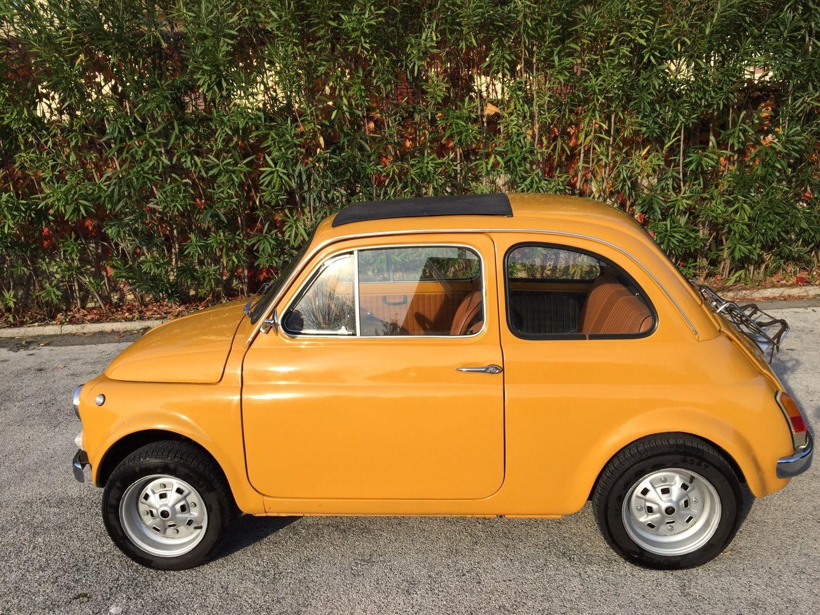 1970 Fiat 500 110f Model L Luxury Yellow Positano For Sale