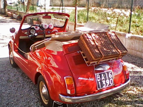 1966 Fiat 500 110F Luxury RED Spiaggina Jolly for sale