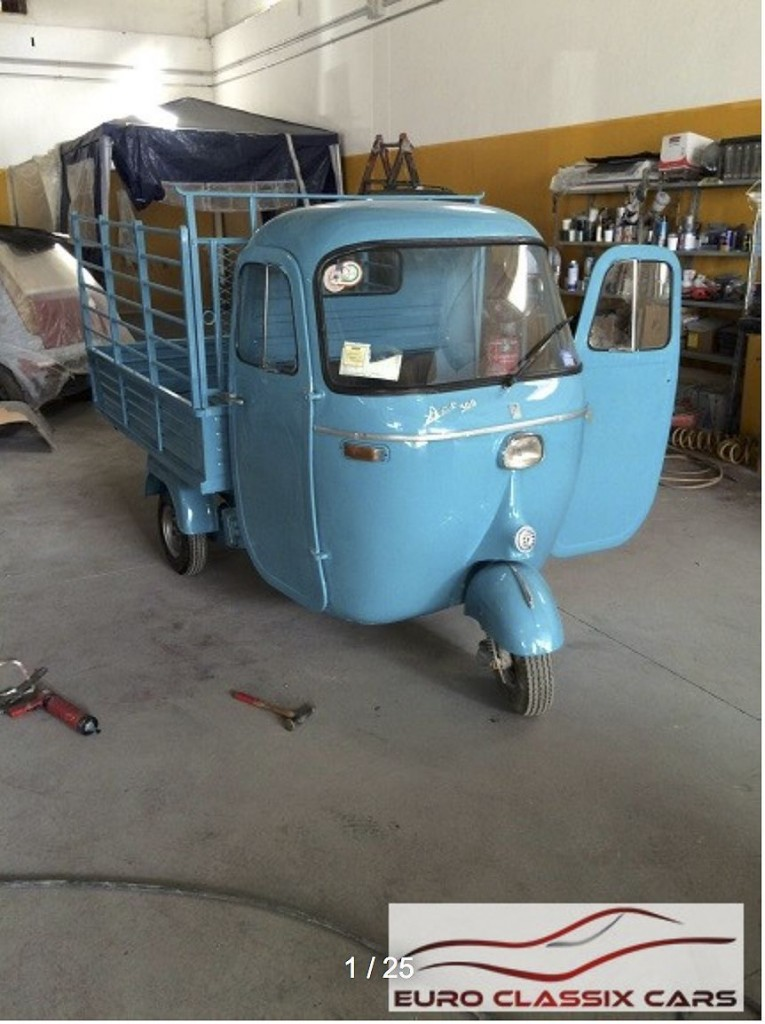 1966 piaggio ape 500 utility vehicle for sale. Black Bedroom Furniture Sets. Home Design Ideas