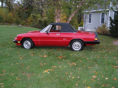 1988 Alfa Romeo Spider Graduate Convertible 2 Door 2.0L for sale