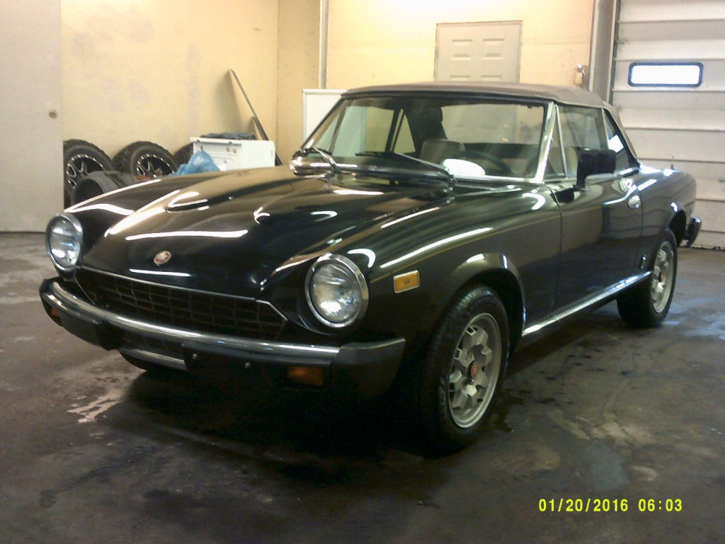 1982 fiat 124 spider convertible 2 0l for sale. Black Bedroom Furniture Sets. Home Design Ideas