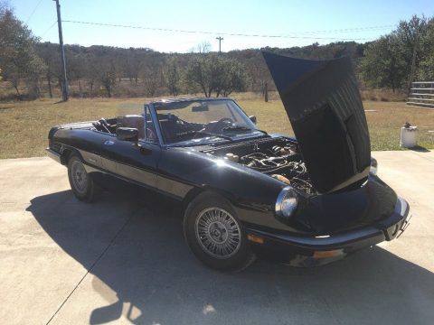 1987 Alfa Romeo Spider Veloce – rare original black paint for sale