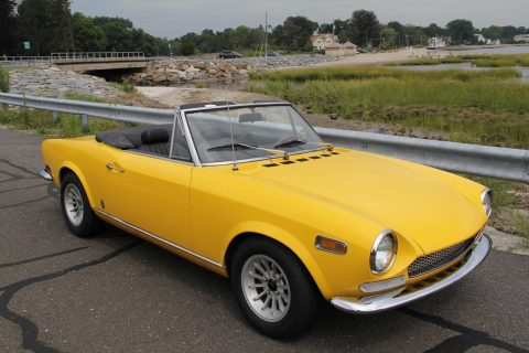 Stunning yellow 1970 Fiat 124 Spider for sale