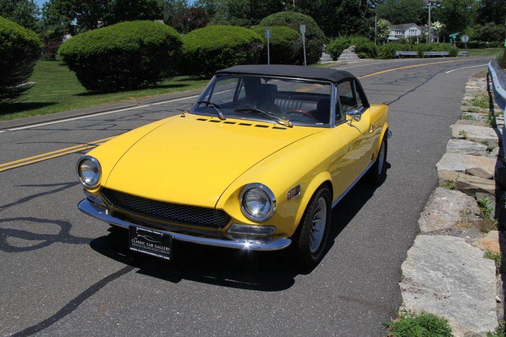 Stunning yellow 1970 Fiat 124 Spider