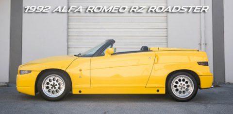 EXTREMELY RARE 1992 Alfa Romeo RZ Roadster Zagato for sale