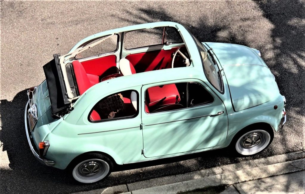 STUNNING 1965 Fiat 500 TRANSFORMABLE