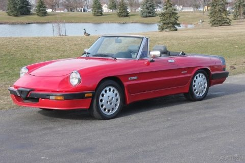 NICE 1989 Alfa Romeo Spider convertible for sale